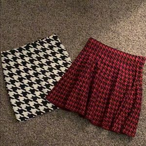 houndstooth skirts